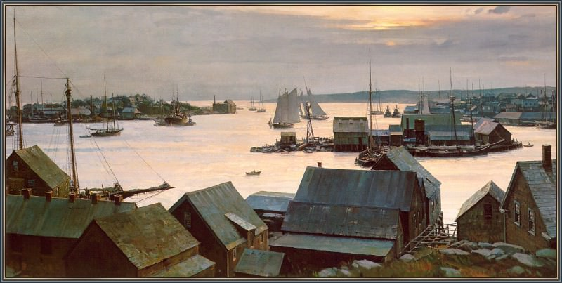 Gloucester Harbor From Smokey Point. Christopher Blossom