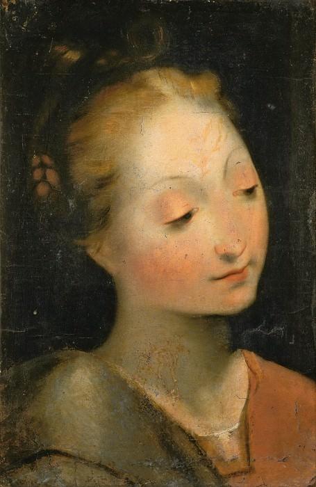 Head of the Madonna. Federico Barocci