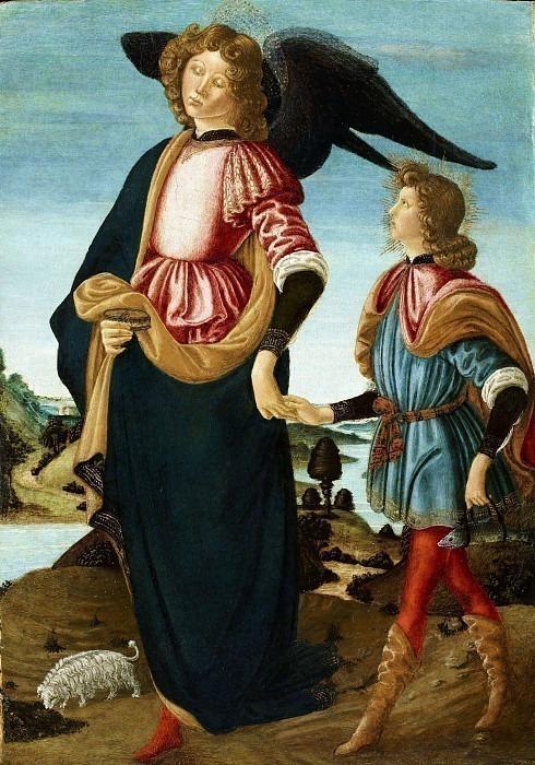 Товиас и архангел Рафаил. Франческо Боттичини