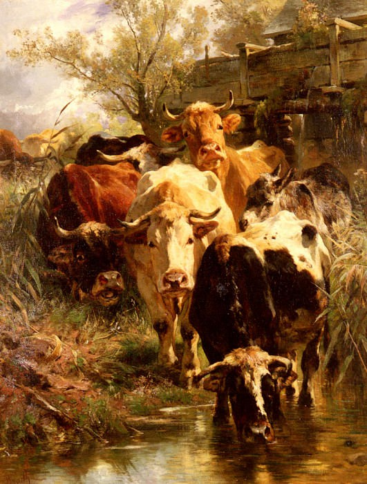 Heading For Water. Anton Braith