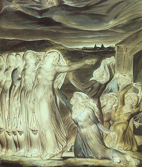 THE PARABLE OF THE WISE AND FOOLISH VIRGINS, 1822. William Blake