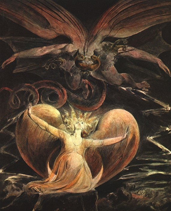 THE GREAT RED DRAGON AND THE WOMAN CLOTHED. William Blake