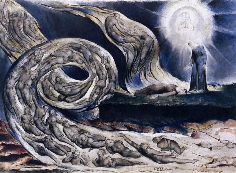 The Lovers Whirlwind Francesca Da Rimini And Paolo Malatesta. William Blake