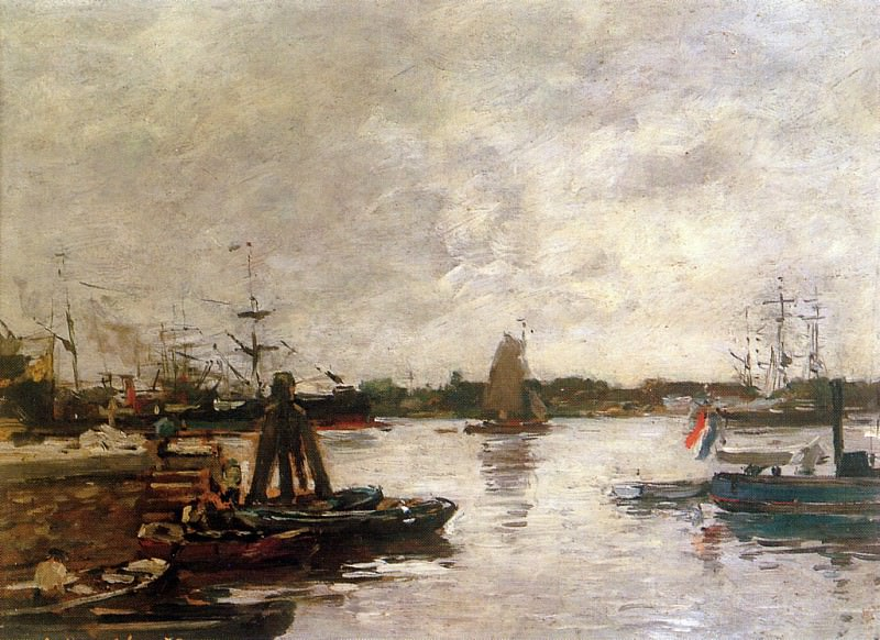 The Spanish quay in Rotterdam. Eugene Boudin