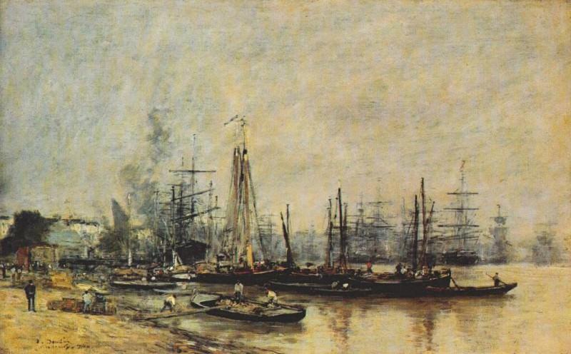 bordeaux harbor 1874. Eugene Boudin