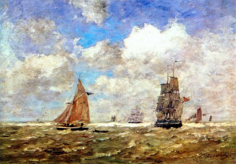 Неспокойное море, 1872-76. Эжен Буден
