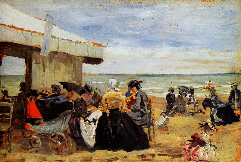 On the beach. Eugene Boudin