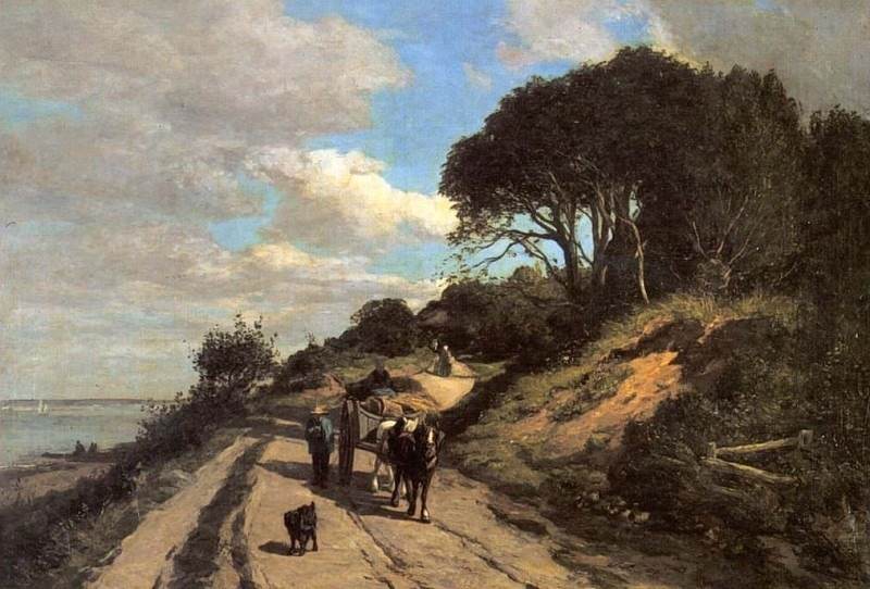 Road to Trouville. Eugene Boudin