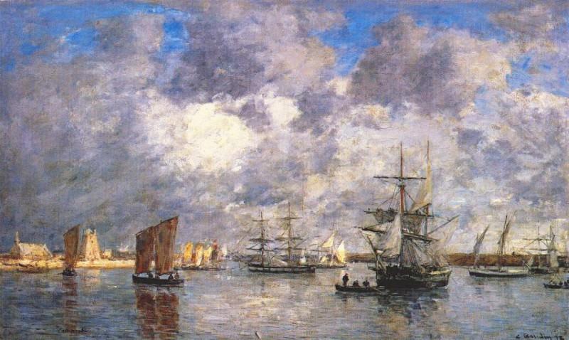 Гавань в Камаре , 1872. Эжен Буден