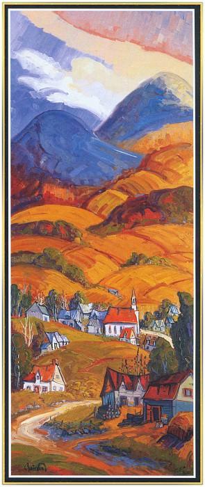 Village а la montagne de Charlevoix. Normand Boisvert