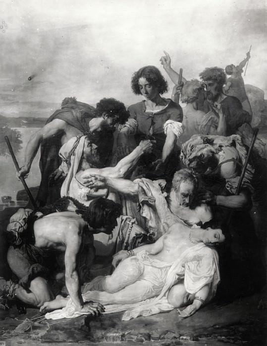 Zenobie retrouvee par les bergers sur les bords. Paul Baudry