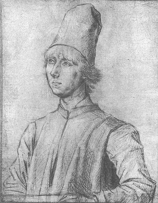 Portrait of a Man, approx. 1462, silverpoint on whi. Dieric Bouts