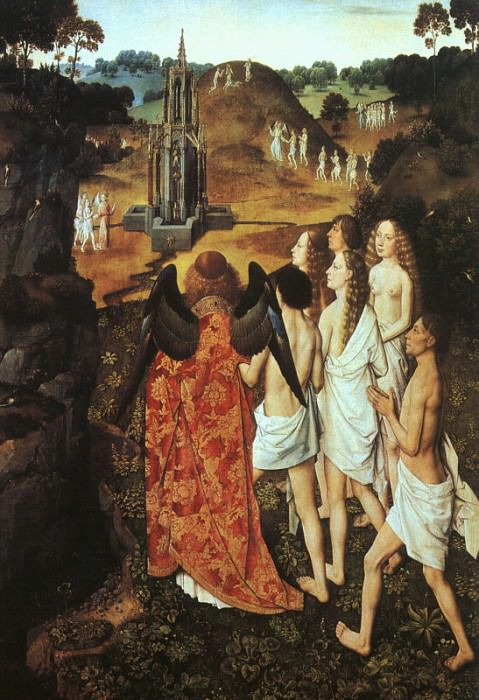 The Way to Paradise, 1450, oil on wood, Musee des B. Dieric Bouts