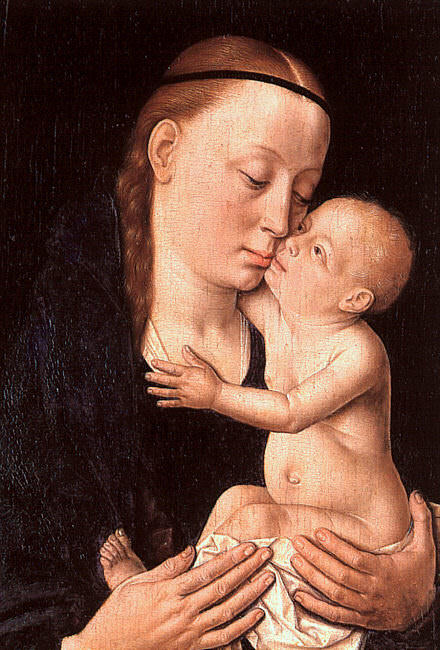 Virgin and Child, tempera and oil on wood, Metropol. Dieric Bouts