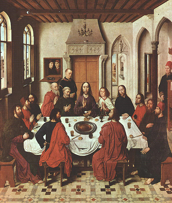 The Last Supper, approx. 1467, oil on panel, St. Pi. Dieric Bouts