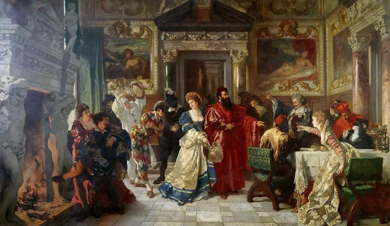 Сцена венецианского карнавала. Карл Людвиг Фридрих Беккер