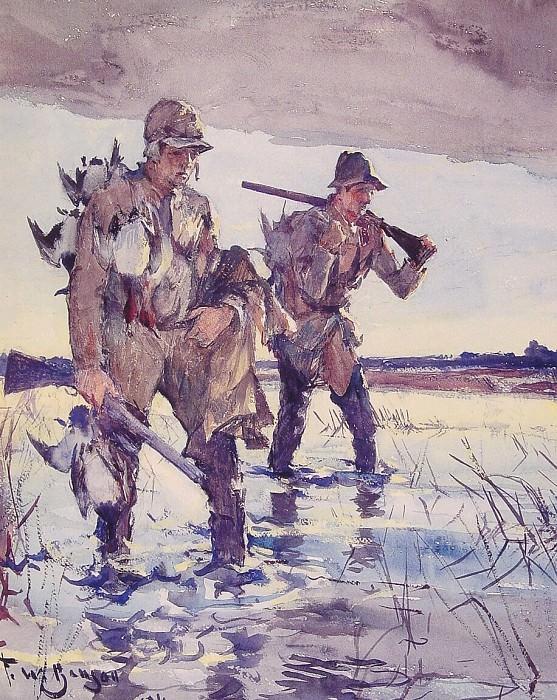Двое охотников на уток. Бенсон Франк Уэстон