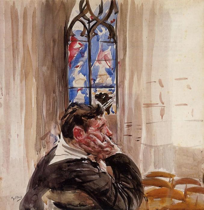 Портрет мужчины в церккви. Джованни Больдини