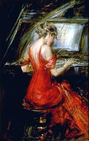 The Woman in Red. Giovanni Boldini