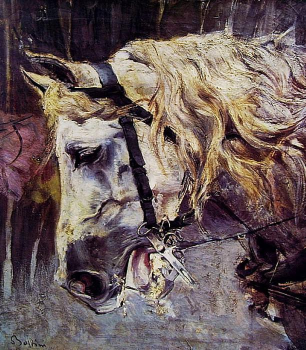La Testa di un Cavallo. Giovanni Boldini