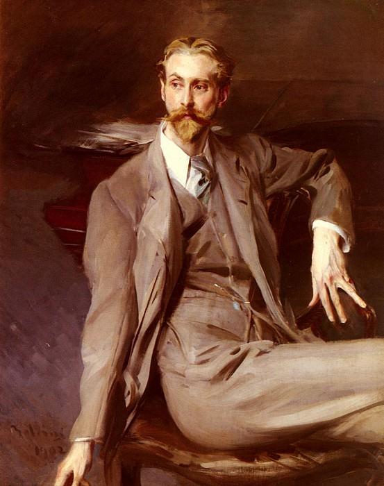 Портрет художника Лоренса Александра Харрисона. Джованни Больдини