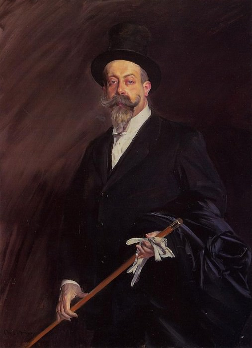 Портрет Вилли - писателя Анри Готье Виллара. Джованни Больдини