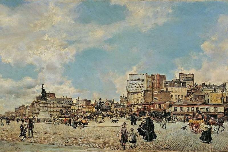 Place Clichy 1874. Giovanni Boldini