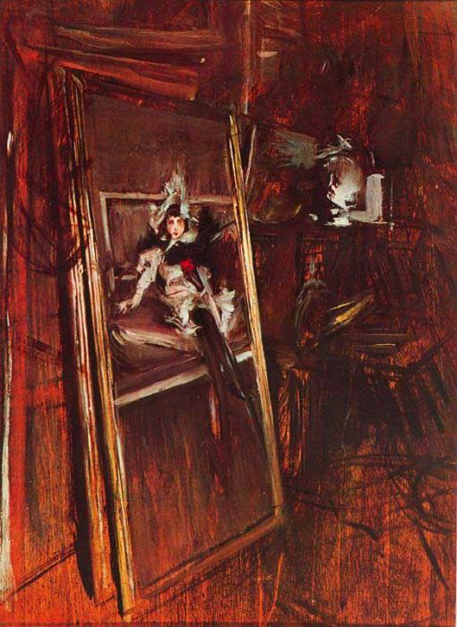 Interno dello Studio del Pittore con la Giovinetta Errazuriz. Giovanni Boldini