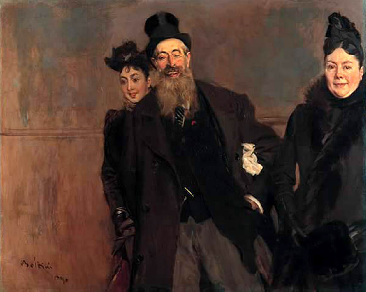 John Lewis Brown with Wife and Daughter 1890. Giovanni Boldini