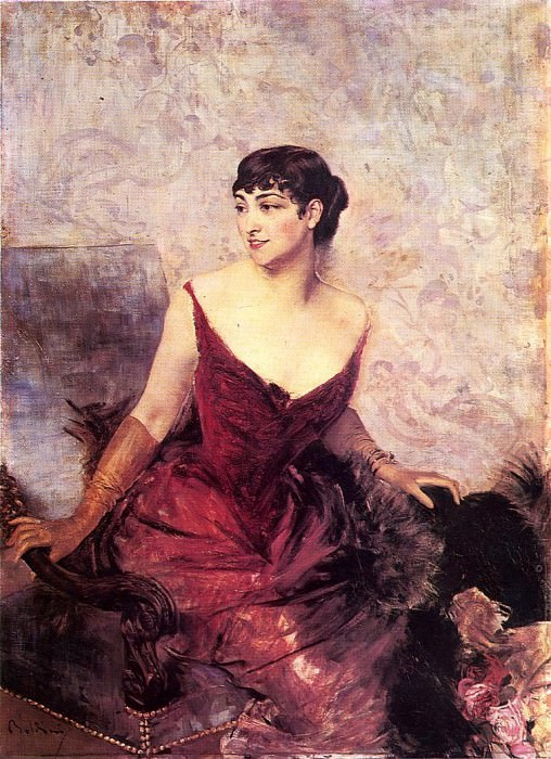 Countess de Rasty Seated in an Armchair. Giovanni Boldini
