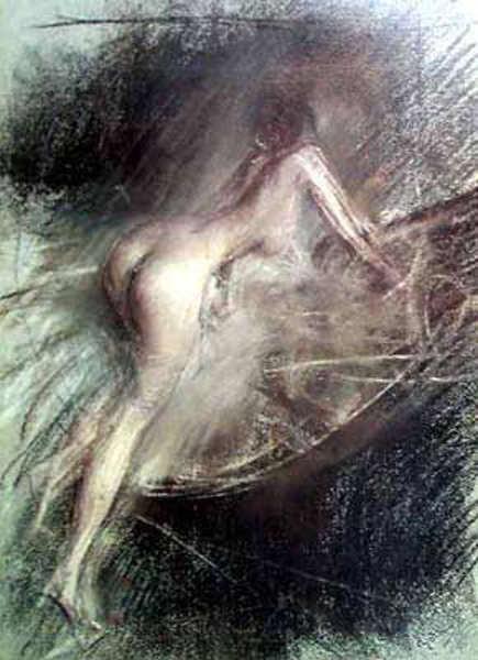 Young Lady Entering Bath. Giovanni Boldini