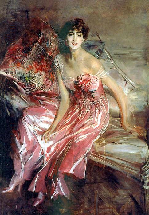 Дама в розовом. Джованни Больдини
