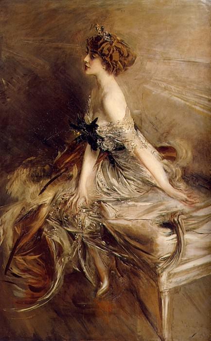 Portrait of Princess Marthe Lucile Bibesco. Giovanni Boldini