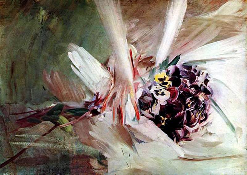 The Pansies. Giovanni Boldini