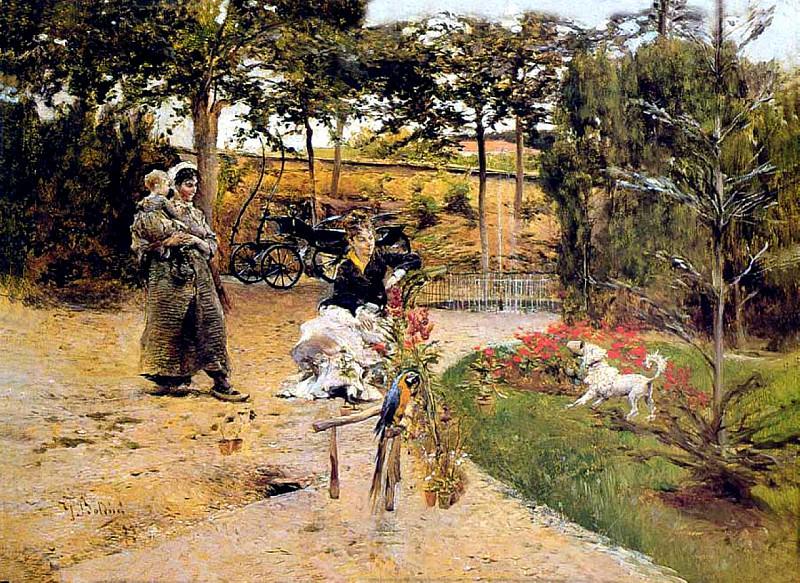 En el Jardin. Giovanni Boldini