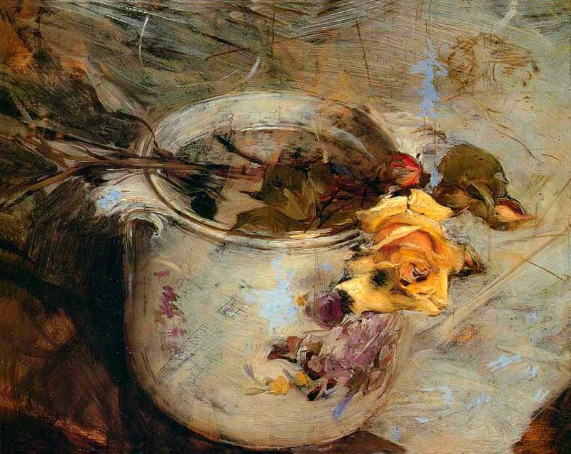 Роза в вазе из саксонского фарофра. Джованни Больдини