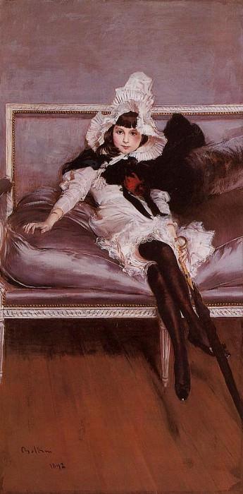 Portrait of Giovinetta Errazuriz 1892. Giovanni Boldini