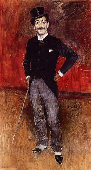 Portrait of the Comte de Rasty. Giovanni Boldini
