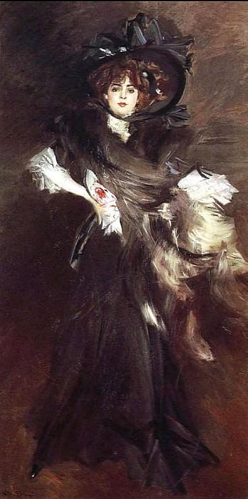Portrait of Mlle Lantelme 1907. Giovanni Boldini