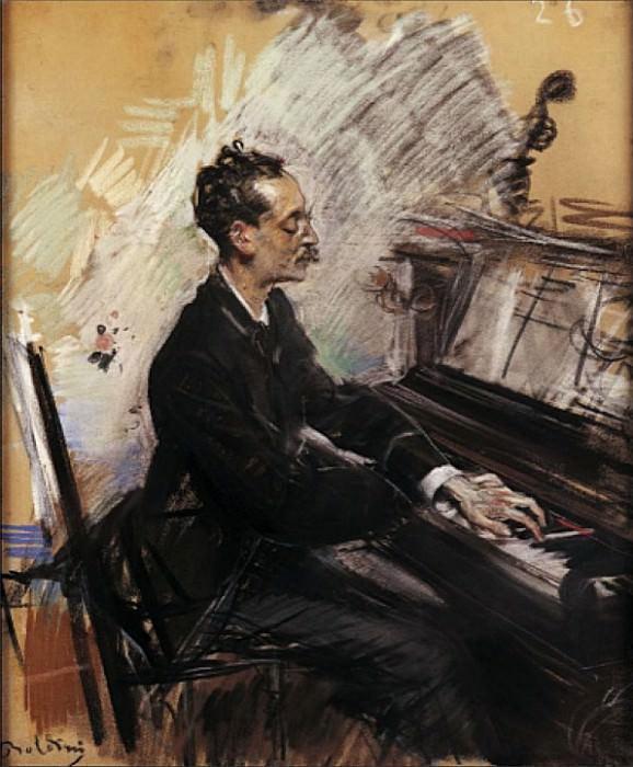 Il Pianista A Rey Colaco 1883. Giovanni Boldini
