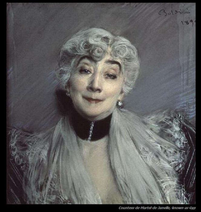Portrait of the Countess de Martel de Janville known as Gyp 1894. Giovanni Boldini