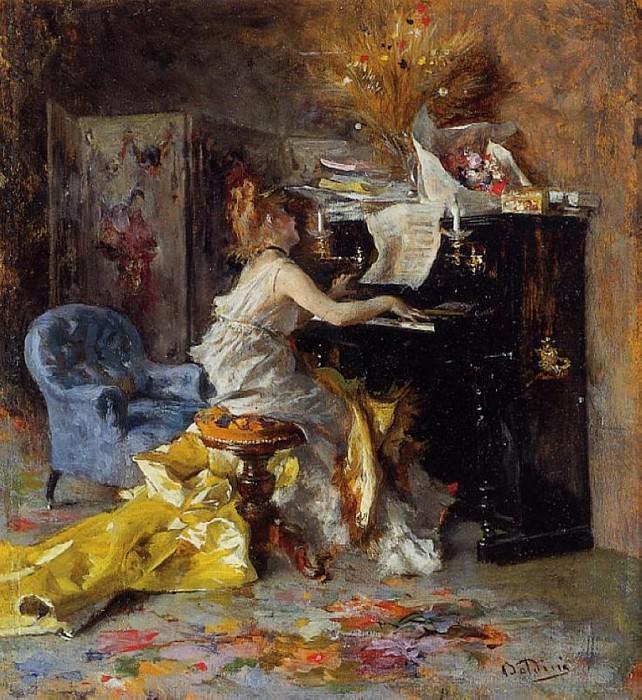 Женщина за пианино, 1871, 79. Джованни Больдини