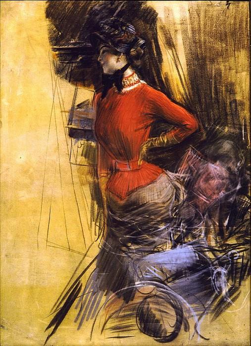 Signora in Casacca Rossa 1878. Giovanni Boldini