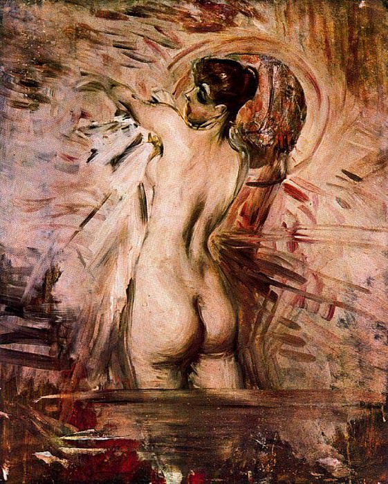 Alla Toeletta In the Bath. Giovanni Boldini