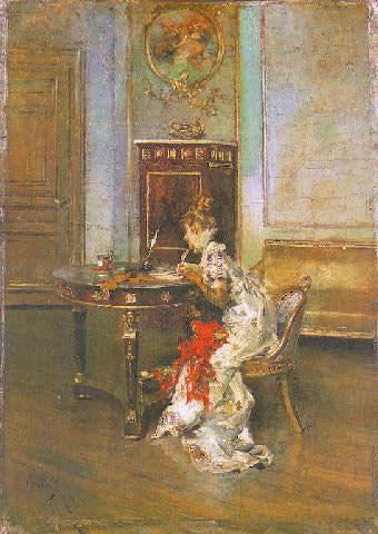 Young Woman Writing. Giovanni Boldini