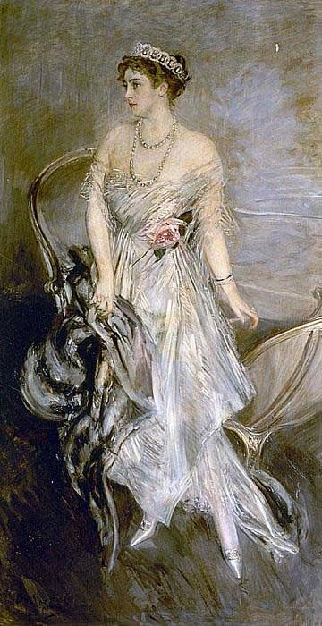 Mrs Leeds the later Princess Anastasia of Greece and Denmark 1914. Giovanni Boldini