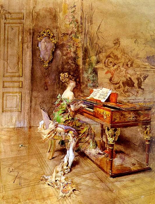 La Pianista The Lady Pianist. Giovanni Boldini