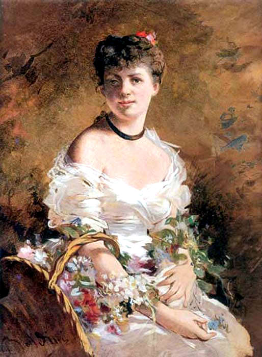 Lady with Flowers 1870. Giovanni Boldini