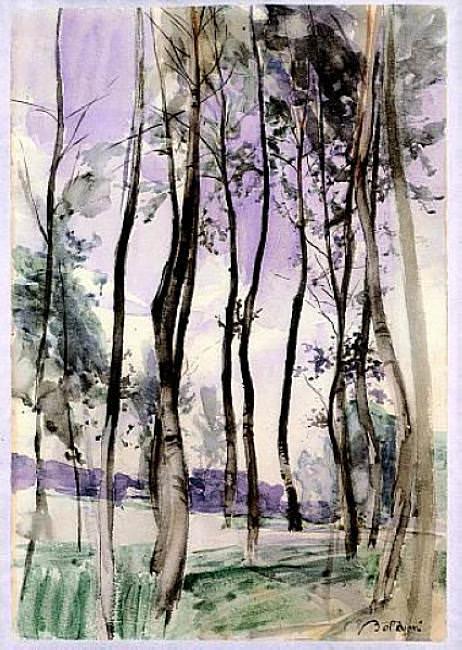 Landscape with Trees 1900. Giovanni Boldini