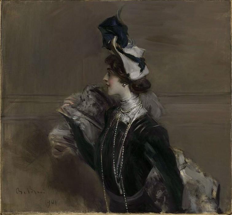 Portrait of Mme Lina Cavalieri 1901. Giovanni Boldini